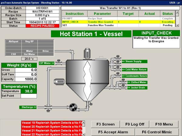 proTrace Recipe Blend System