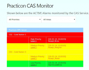 Central Alarm System Web View